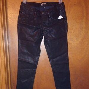 Black faux leather Jeans